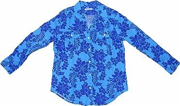 Jamaica Jaxx Womens Long Sleeve Floral Shirt with Roll Up Button Sleeve