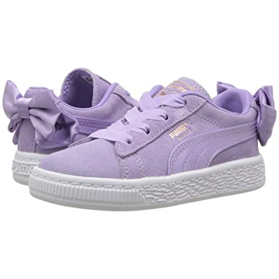 Puma Kids Suede Bow AC INF (Toddler) (Purple Rose) Girls Shoes