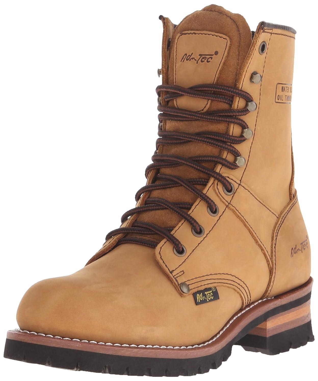 AdTec Men's 9 Inch Logger Boot, Brown, 8 M US