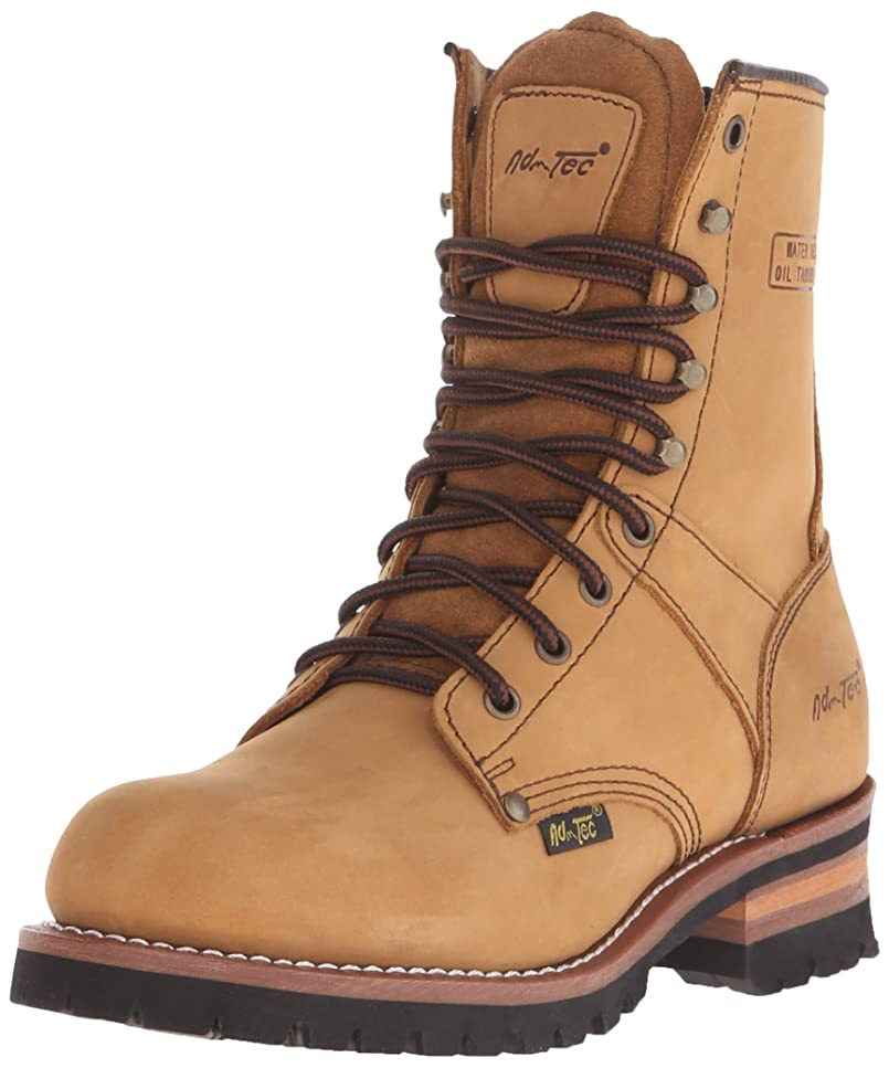 長いです赤ちゃん主導権AdTec Men's 9 Inch Logger Boot, Brown, 9.5 M US