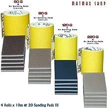 sehr gut Klingspor//–/Deutschland 60/g + 220/g grob + 120/g /3/x 10/Mio. gut Aluminiumoxid Schleifpapier Rolle Set/