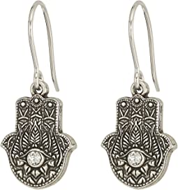 Alex and Ani - Hand of Fatima Hook Earrings