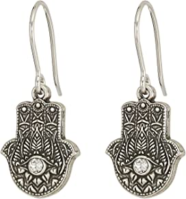 2bb83a75a06a4 Alex and Ani Hand of Fatima Hoop Earrings | Zappos.com