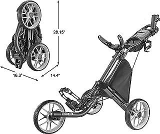 CaddyTek Caddylite EZ V8 - EZ-Fold 3 Wheel Golf Push Cart