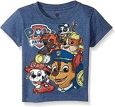 PAW Patrol Boys' Toddler Group Short Sleeve T-Shirt, Navy Heather, 3T