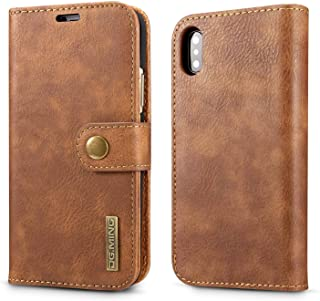 Multifunction leather case for iphone X men business stylish card pockets anti fall shockproof protective sleeve IPX1102 Brown