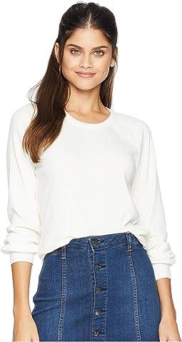 Love Rib Long Sleeve Vent Back Raglan Pullover
