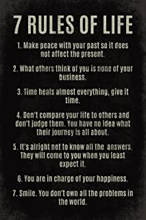 (style2) - 7 Rules Of Life, motivational poster print