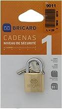 BRICARD 9011 hangslot messing klassiek 25 mm HENKEL normaal