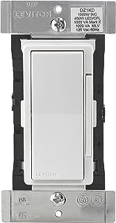 Leviton DZ1KD-1BZ Decora Smart 1000W Dimmer with Z-Wave Technology, White/Light Almond, Repeater/Range Extender