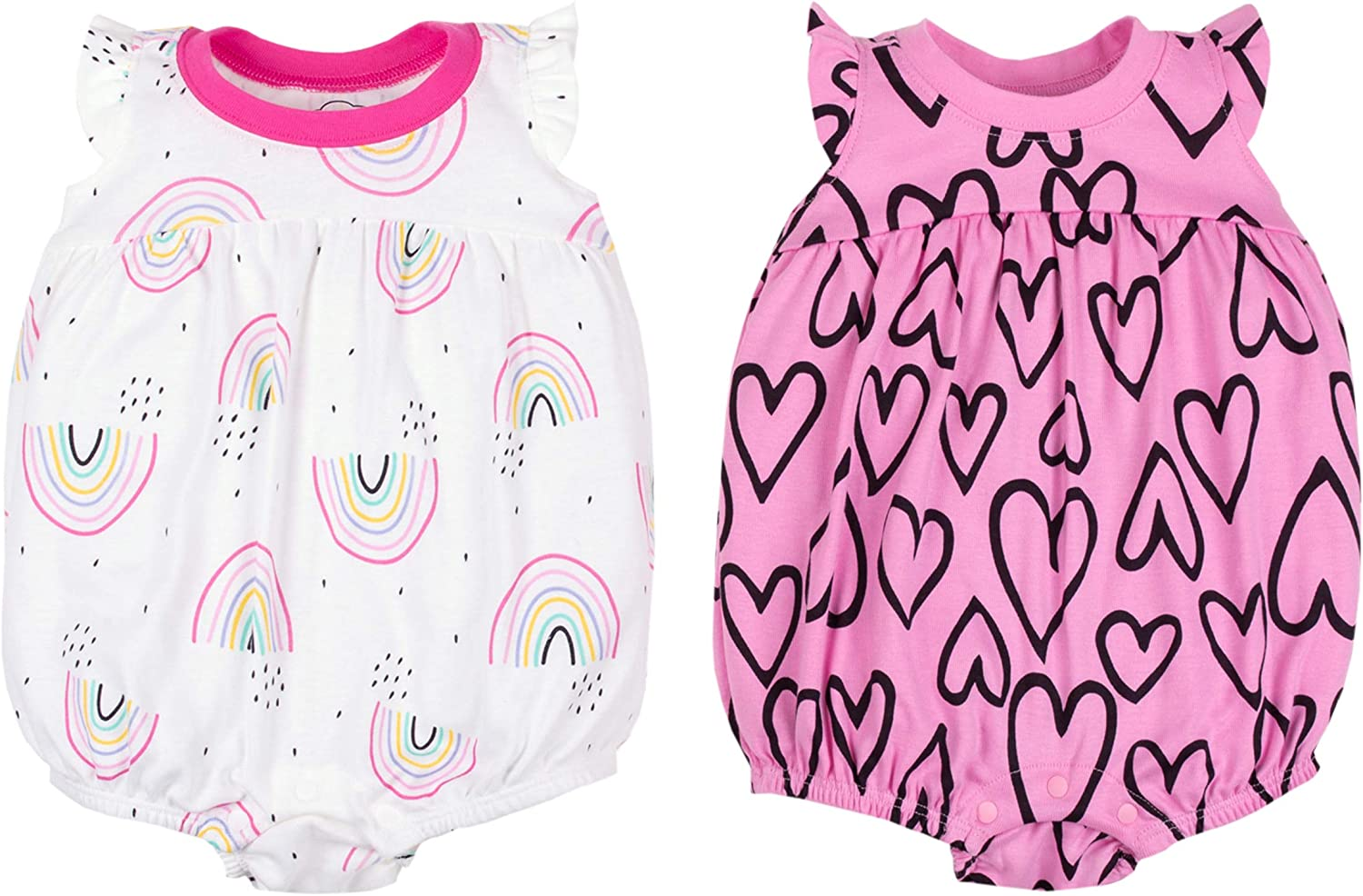 Lamaze Organic SEAL limited product Baby Girls 2 Kansas City Mall Rompers Pack
