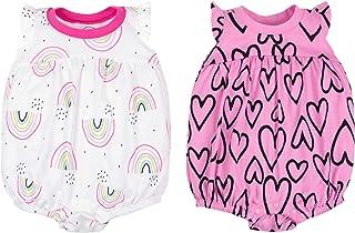 Lamaze Organic Baby Baby Girls 2 Pack Rompers