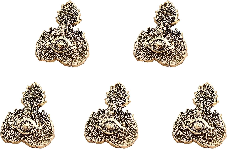 WYZDQ Men Lapel Pin/Shirt Stud Golden Badge Coat Suit Wedding Gift Party Shirt Collar Accessories Brooch,5 Packs