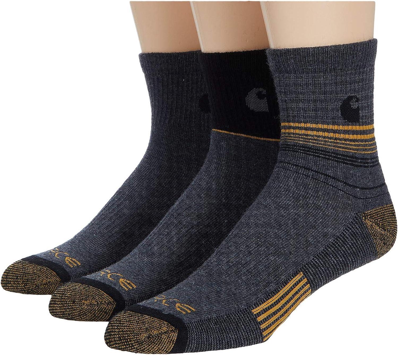 Carhartt Men's Stripe Quarter Socks