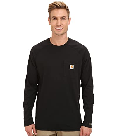 Carhartt Force(r) Cotton Delmont Long-Sleeve T-Shirt (Black) Men
