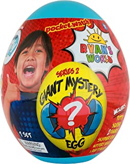 Ryan's World Giant Mystery Egg - Series 2 Toy, Blue, Multicolor, 9 x 7 x 11