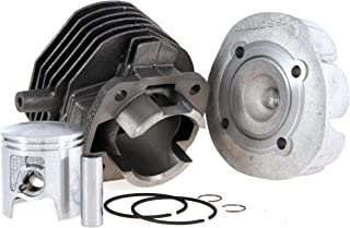 Rennzylinder MALOSSI 75ccm für Vespa 50/PK50/S/XL/XL2 Grauguß, 6 ÜS, Hub 43mm, inkl. Zylinderkopf, Ø 47,0mm, M6 Auslassstehbolzen