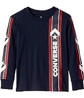 Long Sleeve Wordmark Graphic T-Shirt (Little Kids)