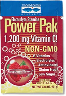 Trace Minerals Research Electrolyte Stamina Power Pak Raspberry