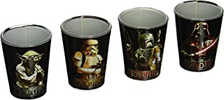 Silver Buffalo SW031SG1C Star Wars Characters Mini Glass Set, 4-Pack