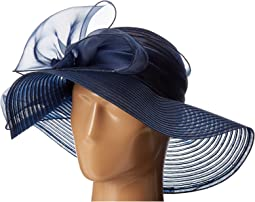 San Diego Hat Company - DRS1010 Derby Round Crown Hat with Organza Oversized Bow