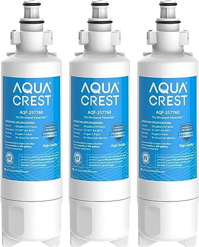 AQUACREST 257760 Filtre à Eau pour Réfrigérateur, Compatible avec Panasonic CNRAH-257760, 125950 NR-B53V1 NR-B53V1-WB...