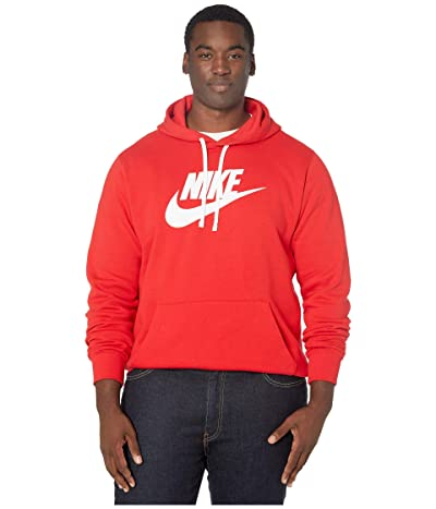 Nike Big Tall NSW Club Hoodie Pullover Graphic (University Red/White/White) Men