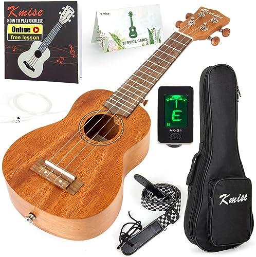 Kmise Soprano Ukulele Professional Mahogany Instrument 21 Inch Hawaiian Ukalalee for Beginner With Ukelele Starter Ki...