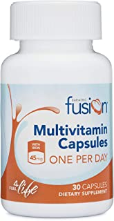 Bariatric Fusion Bariatric Multivitamin ONE per Day Capsule with 45mg of Iron for Post Bariatric Surgery Patients Including Gastric Bypass and Sleeve Gastrectomy, 30 Count, 1 Month Supply