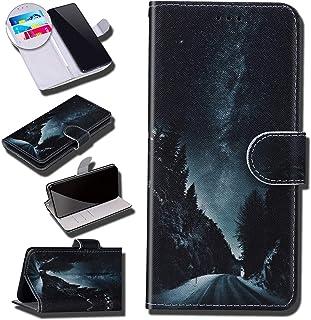 Urhause Case Compatibel met Galaxy A70 Case Glossy PU Lederen Portemonnee Cover met Kaartsleuven Cover Galaxy Cartoon Port...