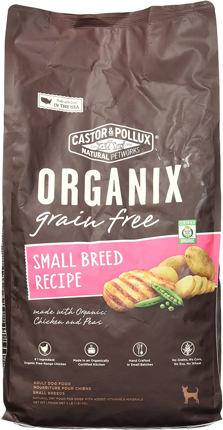 Organix Small Breed Recipe Dry Dog Food, 4Pound