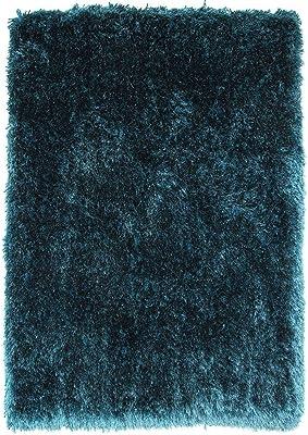Teal Blue Luxurious Ultra Soft Deep Pile Heavyweight Shaggy Rug - 4 x ...