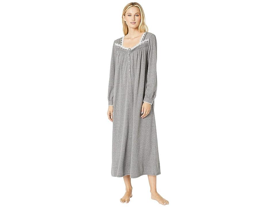 Eileen West Heather Interlock Ballet Nightgown (Solid Charcoal) Women