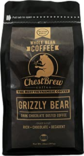 Chestbrew Whole Bean Coffee. Medium Roast Vietnamese Coffee - Grizzly Bear 20 Ounce Bag