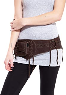 Unisex Leather Cowboy festival hip waist utiliy bag