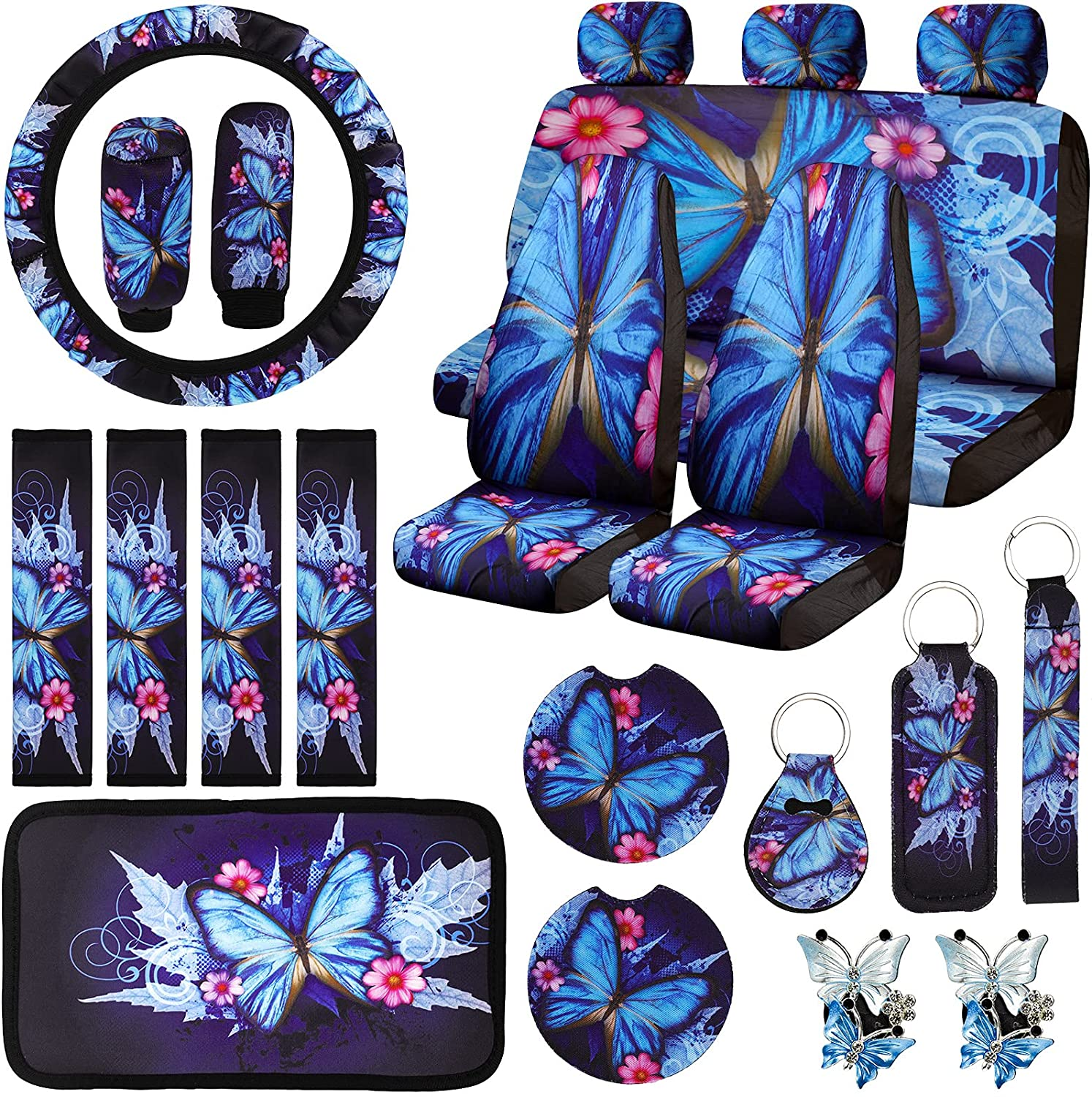 22 Pieces Butterfly Car Max 66% OFF S Seat Covers online shop Accessories