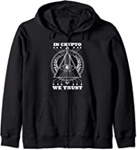 Beautiful Illuminati Eye In Crypto We Trust Pyramid Zip Hoodie