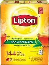 Lipton Decaffeinated Black Tea Bags, 2 Pack 144 Count