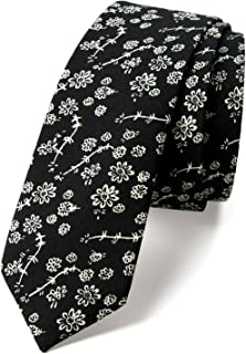 Spring Notion Men's Cotton Printed Floral Skinny Tie