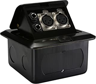 Parts Express Floor Box with Dual XLR & 1/4