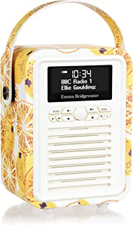 VQ Retro Mini DAB & DAB+ Digital Radio with FM, Bluetooth & Alarm Clock - Emma Bridgewater Marmalade