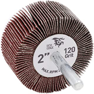 10 Pack Benchmark Abrasives 3 x 1 x 1//4 Shank Mounted Aluminum Oxide Flap Wheels 120 Grit