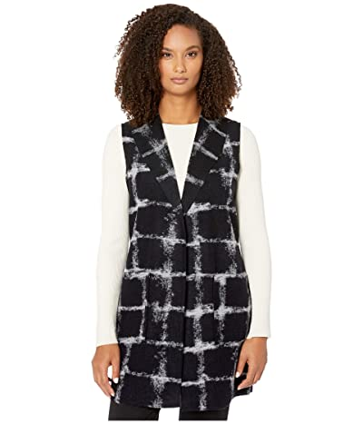 Tribal Shawl Collar Vest with Pockets (Ink) Women