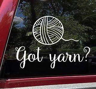 Crochet Hook Car Decal Stickers Gift Happy Hooker Yarn Ball Hook Crowd Knitting