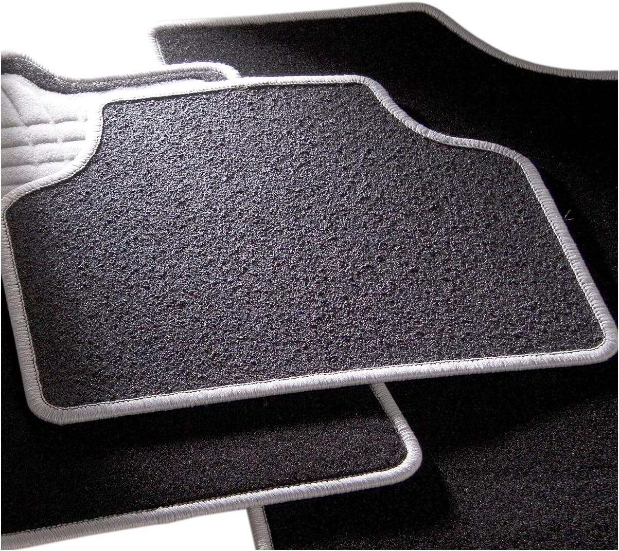 4/piezas CarFashion 238311 Juego de alfombrillas Gris