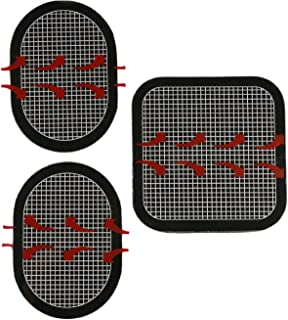 Gel Pads Replacement Unit Set Pack for All Abdominal Belts (black-1 set of 3)