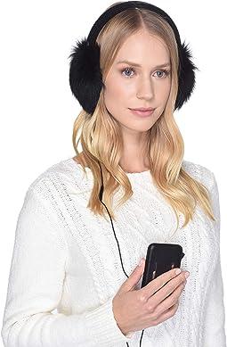 Luxe Knit Longpile Sheepskin Earmuff with Tech Option