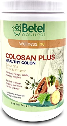 Colosan Plus Colon Cleanse Pineapple Flavor- Whole Psyllium Husk with Probiotics, Prebiotics, and