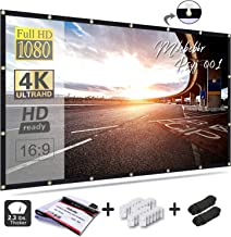Mdbebbron 120 inch Projection Screen 16:9 HD Foldable Anti-crease Portable Projector..