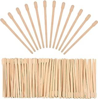 Bememo 500 Pack Wax Spatulas Wood Craft Sticks Small for Hair Removal Eyebrow Wax Applicator Sticks